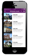 Zoopla iPhone App - List view